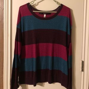 Multi color shimmer sweater